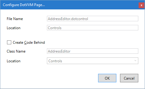 Adding a DOTCONTROL file
